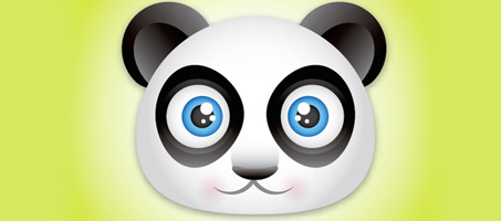Create a Really Cute Panda Bear Face Icon