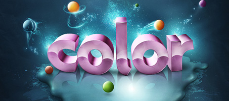 Add Fantastic Color to 3D Text Using Photoshop