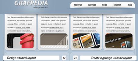 Design a simple wordpress interface using Photoshop