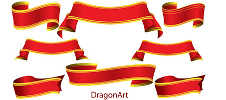 Great Vector – Ribbon Banner set1 by DragonArt
