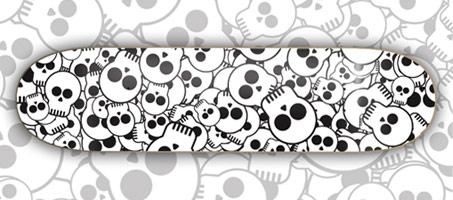 skull-skate-board