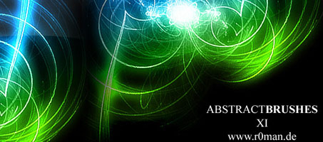 Glowing Abstract XI Photoshop Brushes By Roman