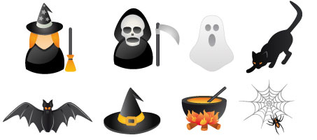 Smashing Pumpkins: A Free Halloween Vector Icon Set vectors
