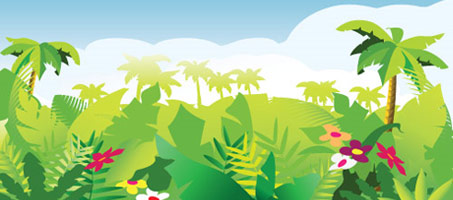 Vector Freebies: Tropical Forest Background