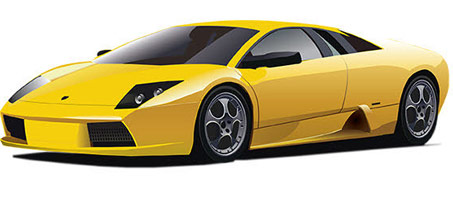 A Free Illustrator Vector Of A Lamborghini  Car