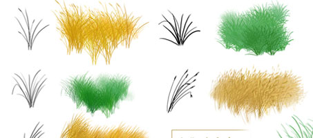 Photoshop Grass Nature Abstract Design brushes