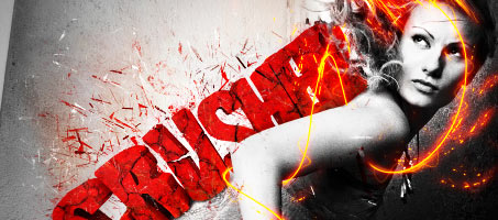 Amazing Fire Lines Abstract Photoshop Design v2
