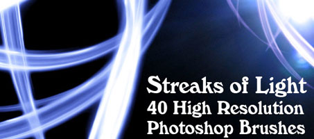 Streaks of Light: 40 High Resolution Photoshop Brushes