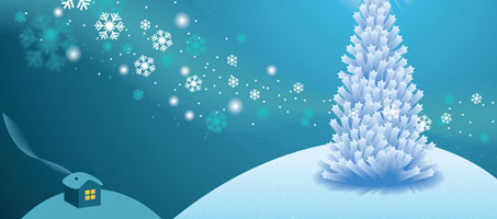 How to Make a White Holiday Scene in Illustrator