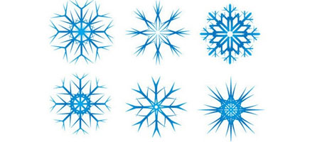High Resolution Christmas Snow Flake Vectors