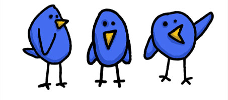 8 Free Cute & Simple Twitter Bird Vector Graphics