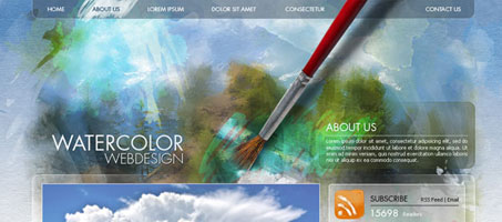 Create a Watercolor-Themed Website Design In Photoshop