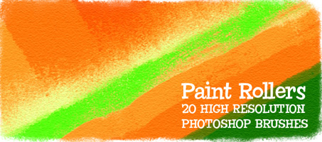 Paint Rollers: 20 High Resolution Photoshop Brushes