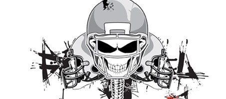 A Collection Of Vector Skeleton Football Helmets