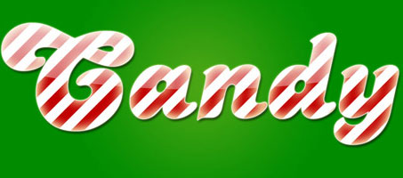 Create A Basic Candy Cane Text Effect in Photoshop