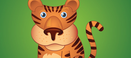 Create a Awsome Cute Little Tiger in Illustrator illustrator favourites 