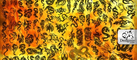 88 High Quality Abstract Photoshop Dragon Brushes