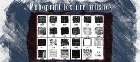Grunge Monoprint Adobe Photoshop texture brushes