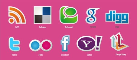 New free popular social media icons vector set!