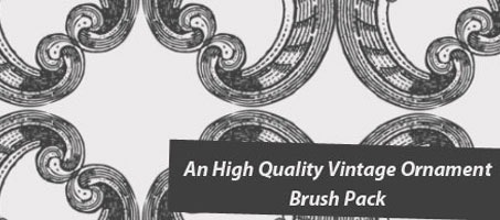 An High Quality Vintage Ornament Photoshop Brush Pack