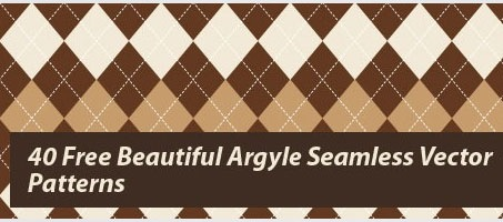 40 Free Beautiful Argyle Seamless Vector Patterns