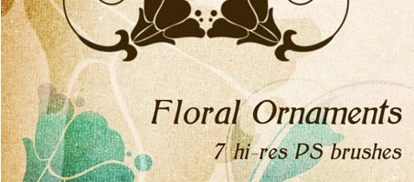 Beautiful Photoshop floral ornament Design Brushes
