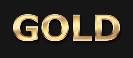 Create A Slick Gold Text Effect Using Photoshop