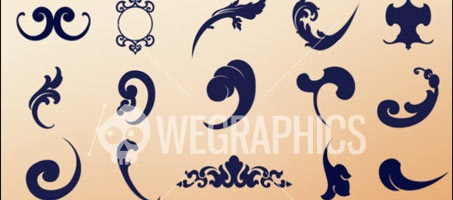 WG Baroque Photoshop Design Brush Ornaments
