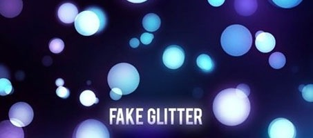 Fake Glitter Design Effect Photoshop Brush Set