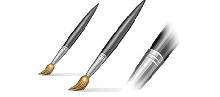 Create a Beautiful Paint Brush Icon in Photoshop photoshop