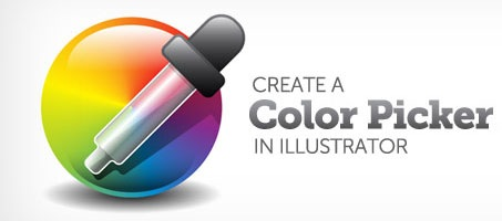 Create a Color Picker Icon illustration using Illustrator