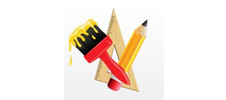 Design Art Equipment Vector Illustration Design