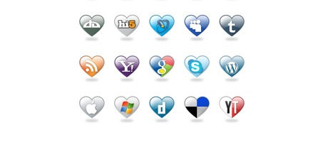 I Love Social Media, a great cute social media icon set
