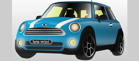 Mini Cooper Illustration Vector design Tutorial