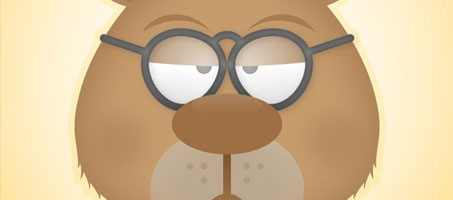 Create The Face of A Grumpy Bear In Illustrator