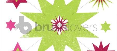Grunge Stars Pointy stars grunge texture brush