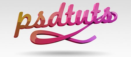 Create Super Glossy 3D Typography in Photoshop