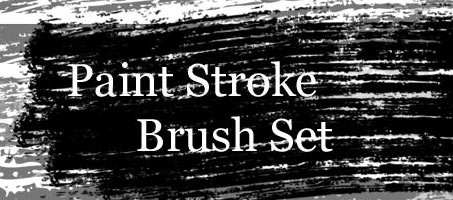 A High Quality Grungy Paint Stroke Photoshop Brush Set