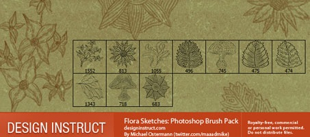 Flora Sketches: A Great Photoshop Brush Pack