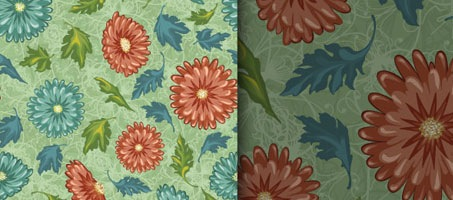 Free Very Nice Vector Floral Seamless Pattern