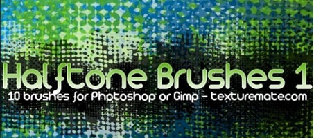 Halftone 1 Photoshop Design Freebie Brush Pack