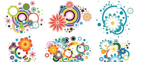 High Quality Colourful Flower Designs Vector