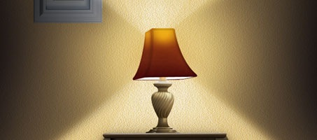 Use Photoshop to Create a Still-Life Lamp,and Picture Frame