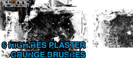 Ice 9 High Res Design Plaster Grunge Brushes
