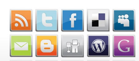 Social Media Free Vector Icon Design Set