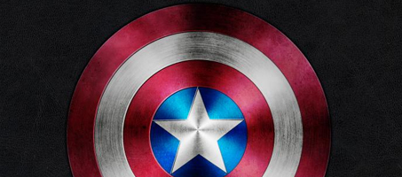 Captain America Shield Illustration in Photoshop
