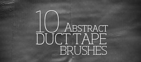 Freebie Friday: 10 Abstract Duct Tape Brushes