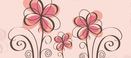 Spring Floral Vector Background Design
