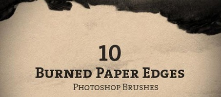 10 Burned Paper Edge Photoshop Brushes