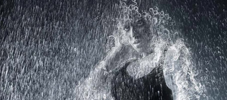 Create a person made of water from a photo